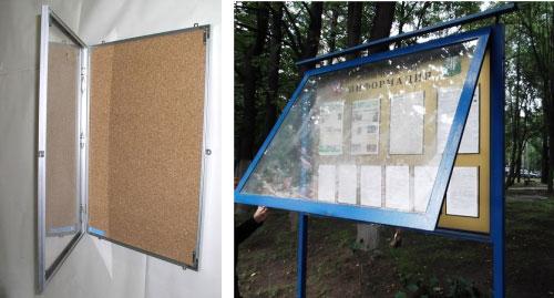 Уличные антивандальные стенды  со стеклом